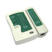 Cable tester for RJ45 and RJ11