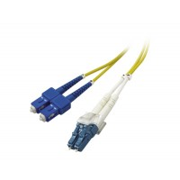 Patch cord  duplex  SM LC-SC, 15.0m